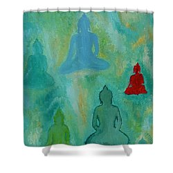 Buddhas Appear Shower Curtain