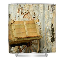 The Apple Cart Shower Curtain