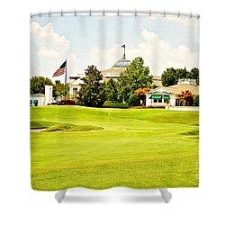 The Approach Shower Curtain by Scott Pellegrin