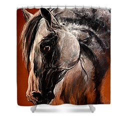 The Arabian Horse Shower Curtain by Angel  Tarantella