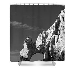 The Arch In Black And White Shower Curtain