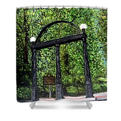 The Arch At Uga Shower Curtain