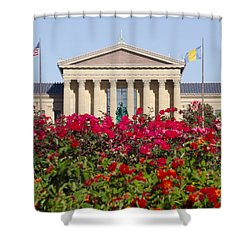 The Art Museum In Summer Shower Curtain by Bill Cannon