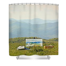 The Art Of Art Shower Curtain by Tammy Schneider