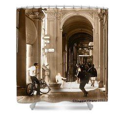 The Art Of Love Italian Style Shower Curtain
