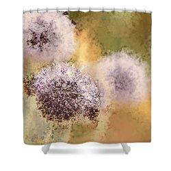 The Art Of Pollination Shower Curtain by Peggy Collins