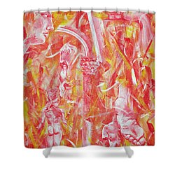 The Art Of Sculptures Shower Curtain by Konni Jensen