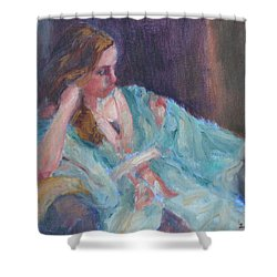 Inner Light - Original Impressionist Painting Shower Curtain