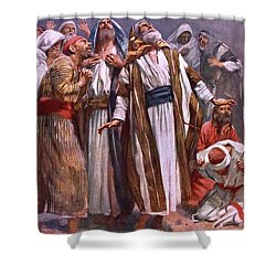 The Ascension Shower Curtain by Harold Copping