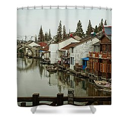 The Asian Venice  Shower Curtain