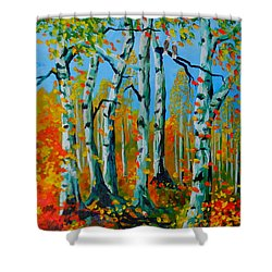 The Aspens Shower Curtain