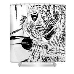 The Assassin Invert Shower Curtain by Justin Moore