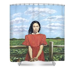 The Auction Block Shower Curtain by Colin Bootman