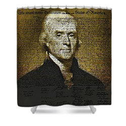 The Author Of America Shower Curtain by Bill Cannon
