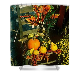 The Autumn Chair Shower Curtain by Rodney Lee Williams