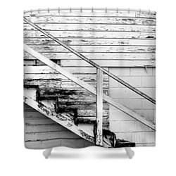 The Back Stairs Shower Curtain by Beverly Stapleton