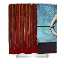 The Bad Act Shower Curtain by Kelly Jade King