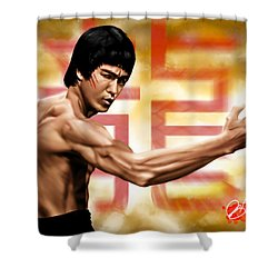 The Baddest Shower Curtain by Pete Tapang