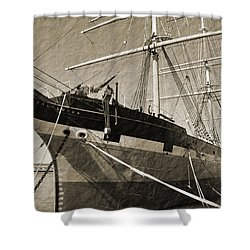 The Balclutha Shower Curtain by Holly Blunkall