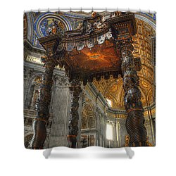 The Baldaccino Of Bernini Shower Curtain