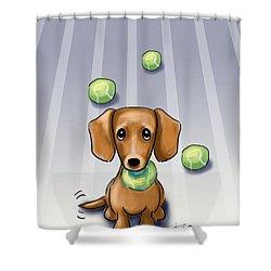 The Ball Catcher Shower Curtain