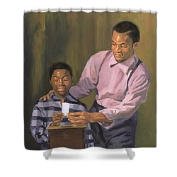 The Ballot Box Shower Curtain by Colin Bootman