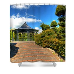 The Bandstand Shower Curtain by Steve Purnell