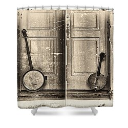 The Banjo Story Shower Curtain by Bill Cannon