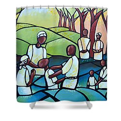 The Baptism Shower Curtain by AC Williams