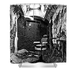 The Barber Chair - Bw Shower Curtain