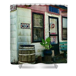 The Barber Shop From A Different Era Shower Curtain by Paul Ward