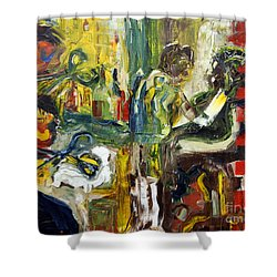 The Barbers Shop - 1 Shower Curtain