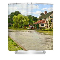 The Barge Inn Seend Shower Curtain