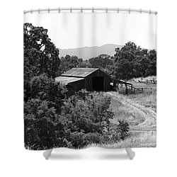 The Barn Shower Curtain by Richard J Cassato