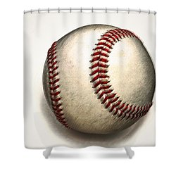 The Baseball Shower Curtain by Bill Cannon