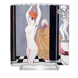 The Basin Shower Curtain by Georges Barbier