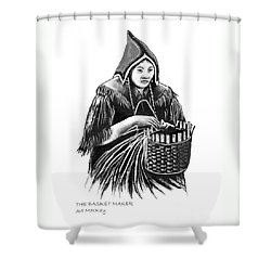 The Basket Maker Shower Curtain