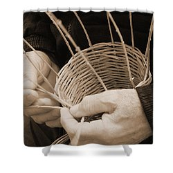 The Basket Weaver Shower Curtain