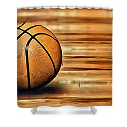 The Basketball Shower Curtain by Florian Rodarte