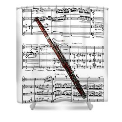 The Bassoon Shower Curtain by Ron Davidson
