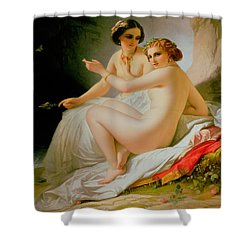 The Bathers Shower Curtain by Louis Hersent