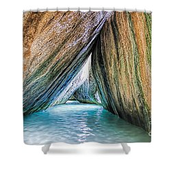The Baths Virgin Gorda British Virgin Islands Shower Curtain by Olga Hamilton