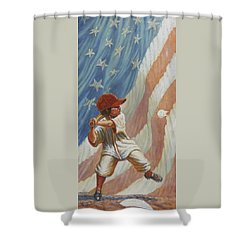 The Batter Shower Curtain