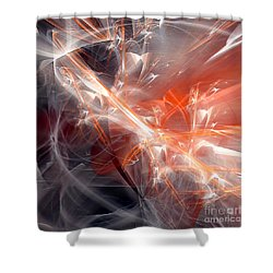 The Battle Shower Curtain by Margie Chapman