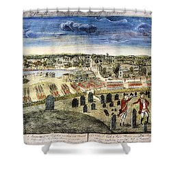 The Battle Of Concord, 1775 Shower Curtain by Granger