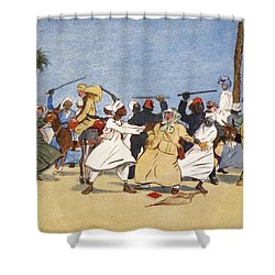 The Battle Of The Nile, From The Light Shower Curtain by Lance Thackeray