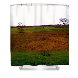 The Battlefield Of Gettysburg Shower Curtain