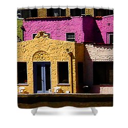 Shower Curtain featuring the photograph The Beach House by Jim Thompson