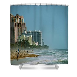 The Beach Near Fort Lauderdale Shower Curtain by Eric Tressler