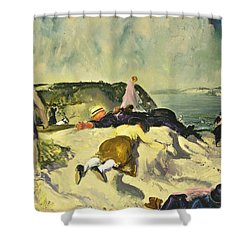The Beach Newport Shower Curtain by George Wesley Bellows